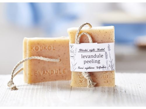 Přírodní mýdlo Koukol - LEVANDULE PEELING