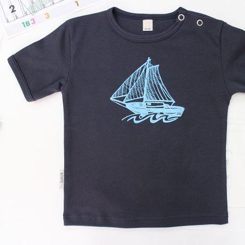 Kojenecké tričko NAVY s krátkým rukávem