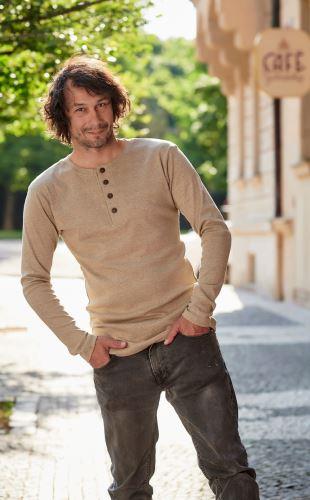 Pánské BIO tričko s légou a dlouhým rukávem