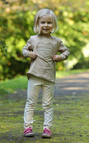 Dětské BIO legíny NATUR (bez proužků)