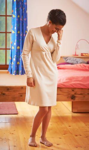 Kojící a těhotenská  noční košile BIO
