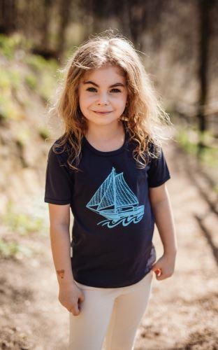 Dětské bio tričko NAVY s krátkým rukávem