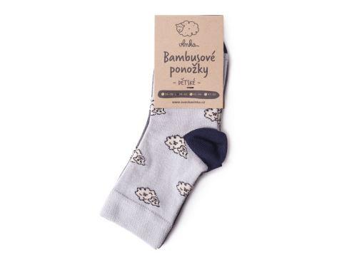 Dětské bambusové ponožky ovečka, 2 páry