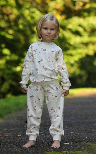 Dětské bio pyžamo s žirafkami