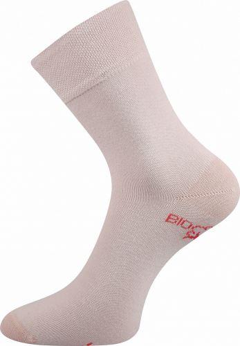Ponožky z biobavlny růžové 26-28 (39-42)