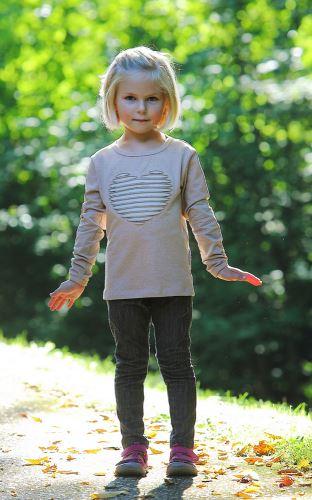 Dětské bio tričko Srdce