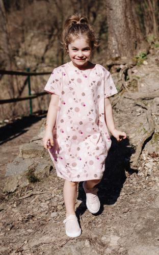 Dívčí bio šaty Růžovka