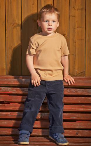 Dětské bio tričko s krátkým rukávem hnědé