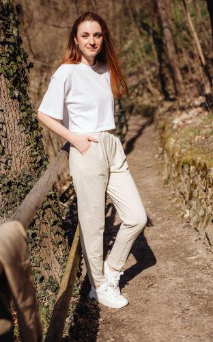 Dámské kalhoty z biobavlněného úpletu Salvia