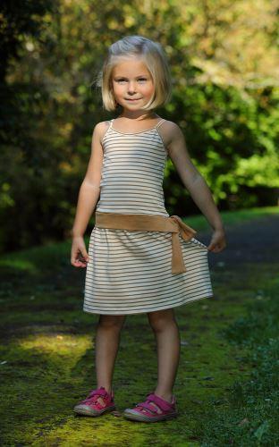 Dívčí šaty se špagetovými ramínky