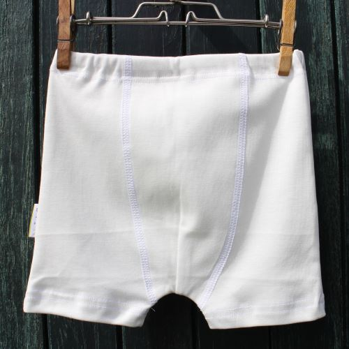 Chlapecké boxerky Eco White, vel.86/92 - 122/128