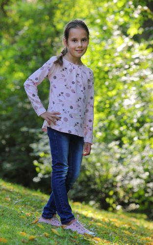 Dívčí bio tričko růžové