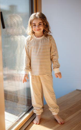 Dětské bio pyžamo 3 proužky