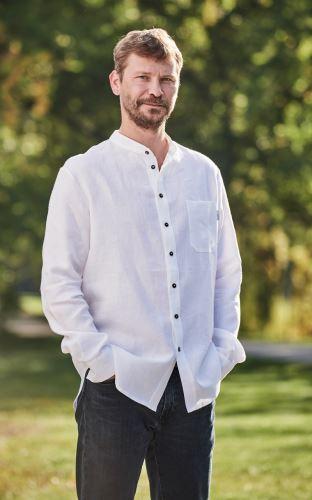 Pánská lněná košile bílá