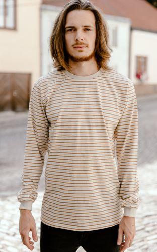 Pánské pyžamové triko 3 proužky dlouhý rukáv